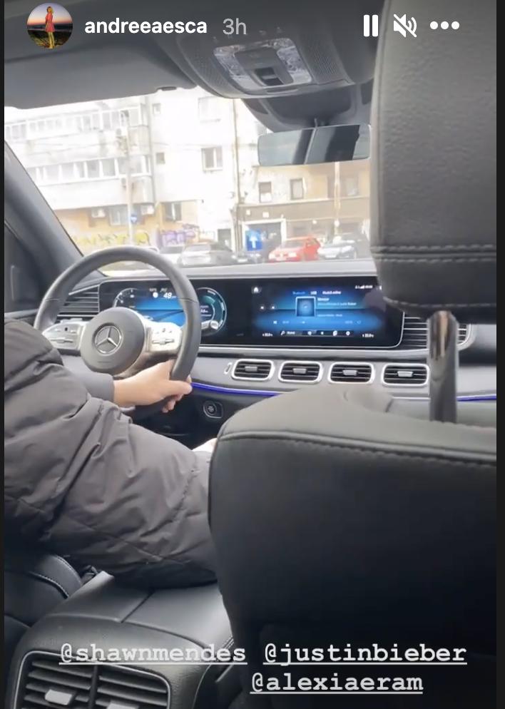 Ce muzică ascultă Andreea Esca în mașină